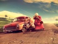 Карикатура на тему - поломки авто