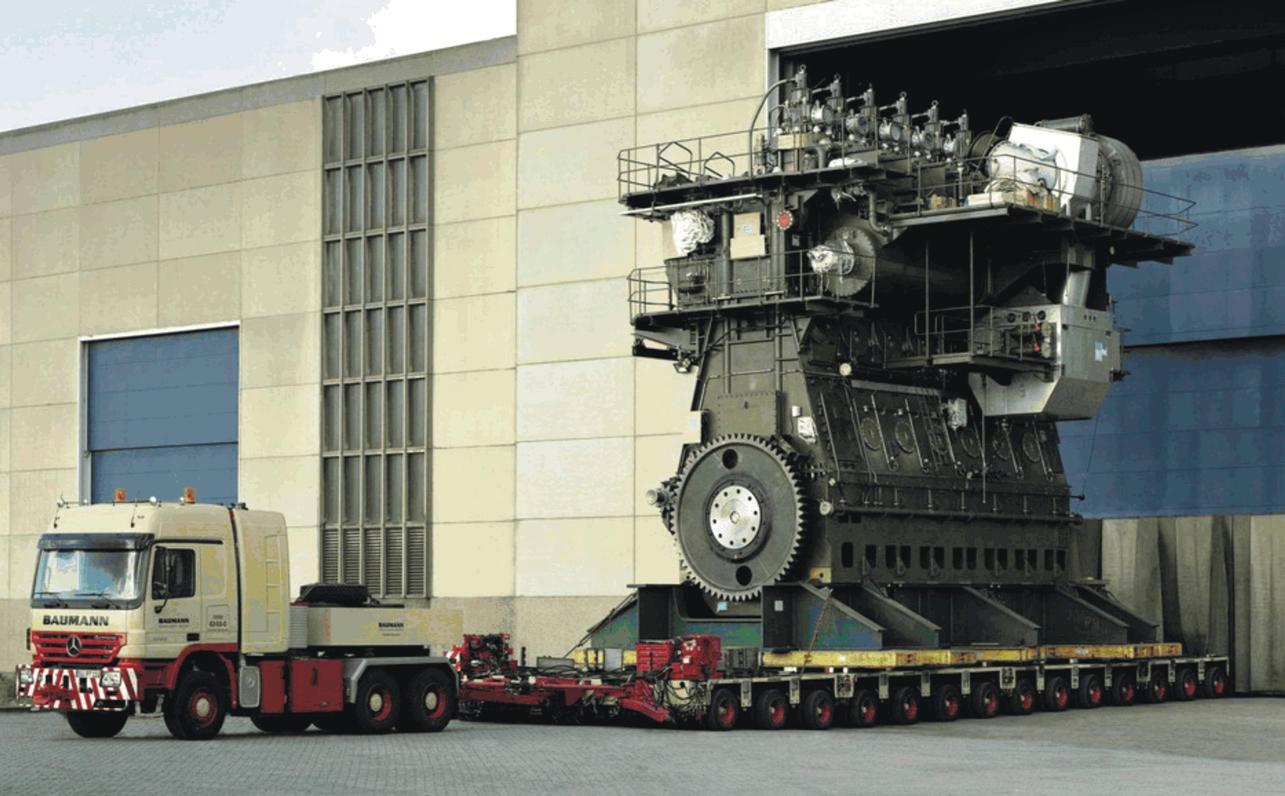Самый большой дизельный двигатель Wartsila-Sulzer RTA96-C создан для больших кораблей