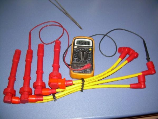 Gроверка ВВ проводов мультиметром
