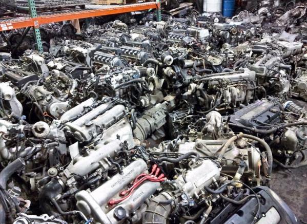 Много контрактных двигателей