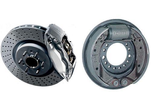 дисковый и барабанный тормоз