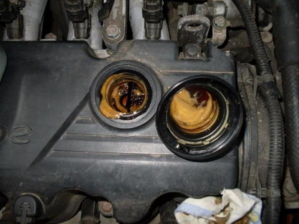 Эмульсия масла в двигателе