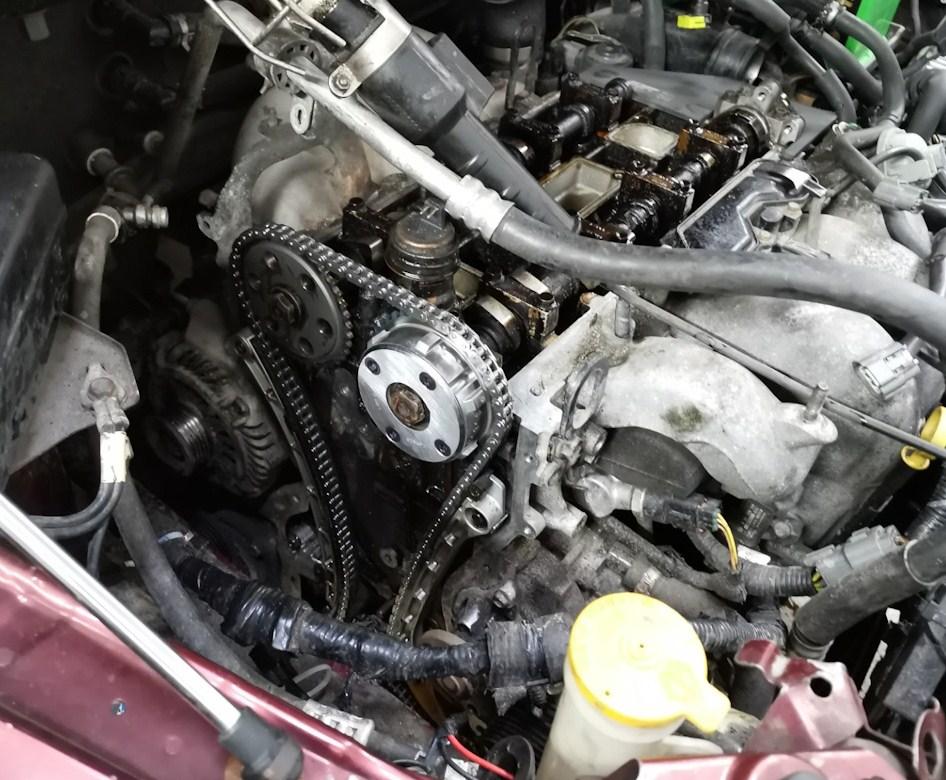 Цепь ГРМ в двигателе 2.3 Mazda CX-7