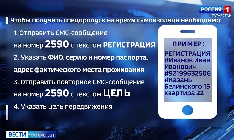 Получение пропуска в Татарстане на время самоизоляции