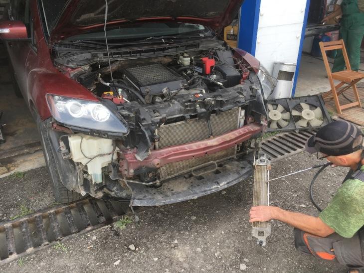 Чистка радиатора Mazda CX-7