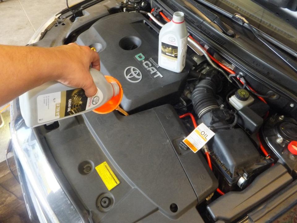 Замена масла в МКПП Тойота Авенсис